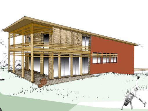TRANSFORMATION D'UNE MAISON INDIVIDUELLE :  Ossature bois, isolation par l'extérieure (ITE) et agencement d'intérieure – 31