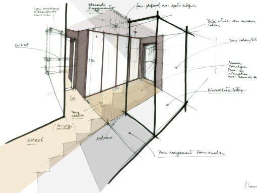 EXTENSION MAISON INDIVIDUELLE : Transformation/extension en ossature bois et isolation par l'extérieure (ITE) – Toulouse 31