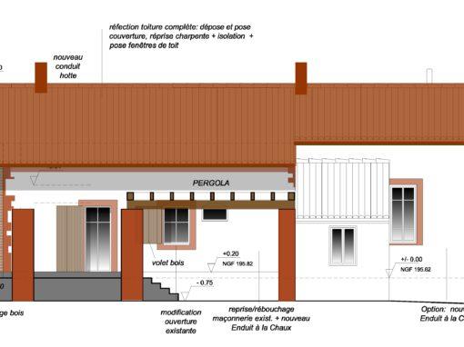 RENOVATION DE CARACTERE & ENERGETIQUE : Réhabilitation/Transformation d'un corps de ferme – Clermont le Fort 31