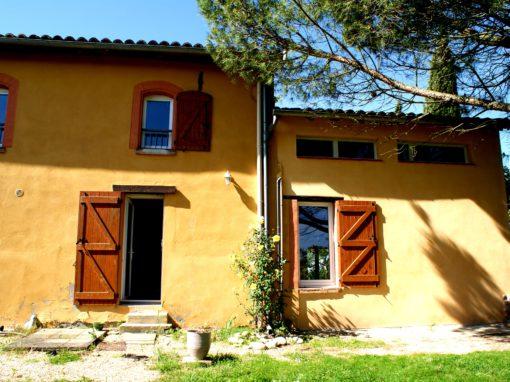 RENOVATION DE CARACTERE : Réhabilitation/Consolidation d'une bâtisse ancienne – Auragne 31
