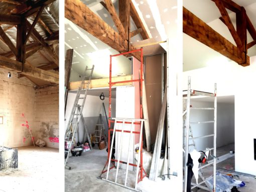 RÉHABILITATION DE CARACTÈRE et AGENCEMENT D'INTÉRIEUR : Création d'un loft dans une bâtisse ancienne – Lisle sur Tarn 81