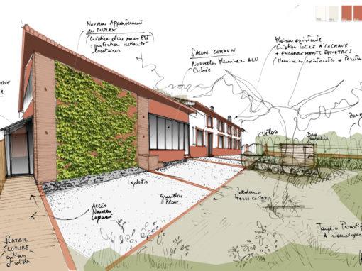 Rénovation et réagencement d'une bâtisse ancienne pour création de logements touristiques