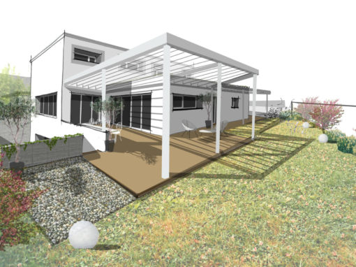 MAISON CONTEMPORAINE BIOCLIMATIQUE AVEC PISCINE